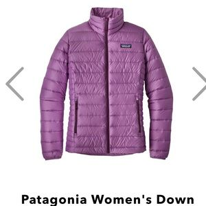 Patagonia down Sweater Jacket purple size small